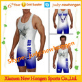 wholesale low cut custom wrestling singlet
