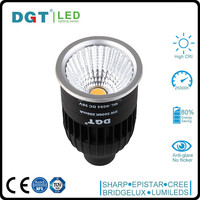 High CRI 8W GU10 warm white led COB spotlight