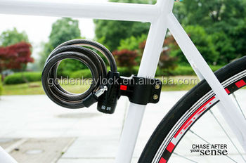 hot sale bicycle cable lock ,colorful bicycle lock,bike lock