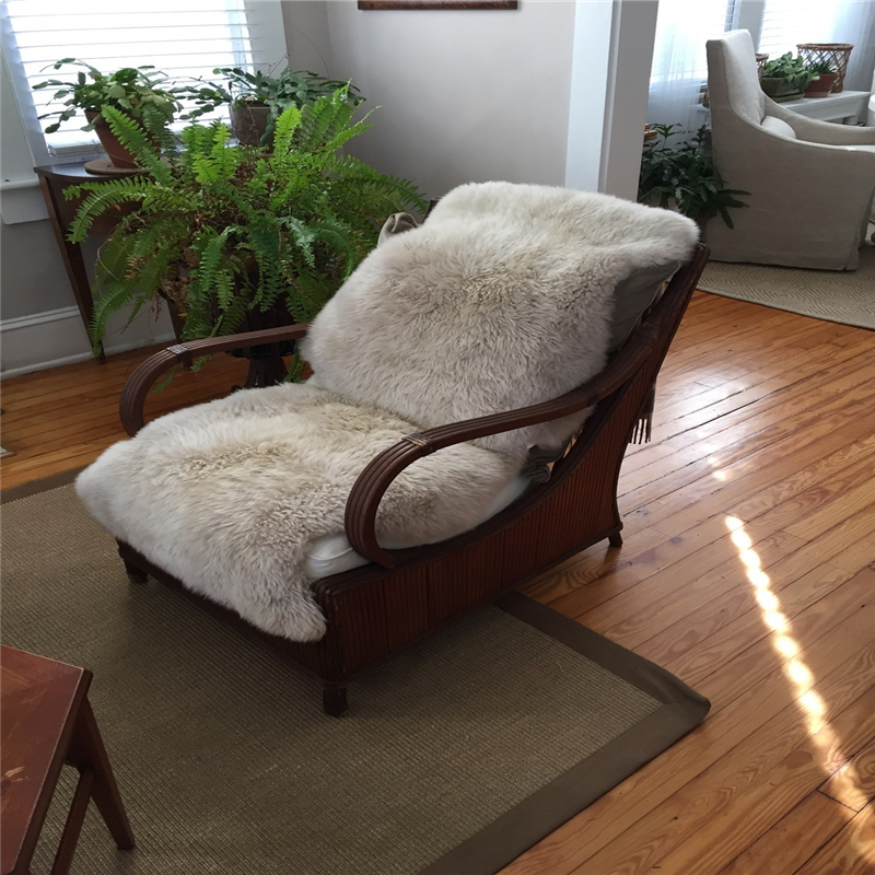 Top quality long pile faux fur floor office chair rugs
