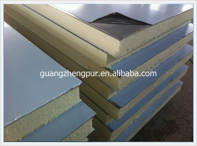 Water resistant insulation steel Polyurethane sandwich roof Panel