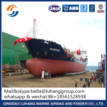 flaoting marine airbag for steel barges launching