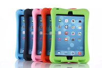 Rubber case for ipad mini, for ipad mini 4 soft silicone case with stand