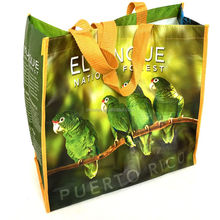 High quality new design cute RPET Laminated extra large grocery shopper bag with factory low price directly