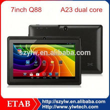 China factory cheapest 7inch android A23 dual core 7 inch tablet pc with usb port