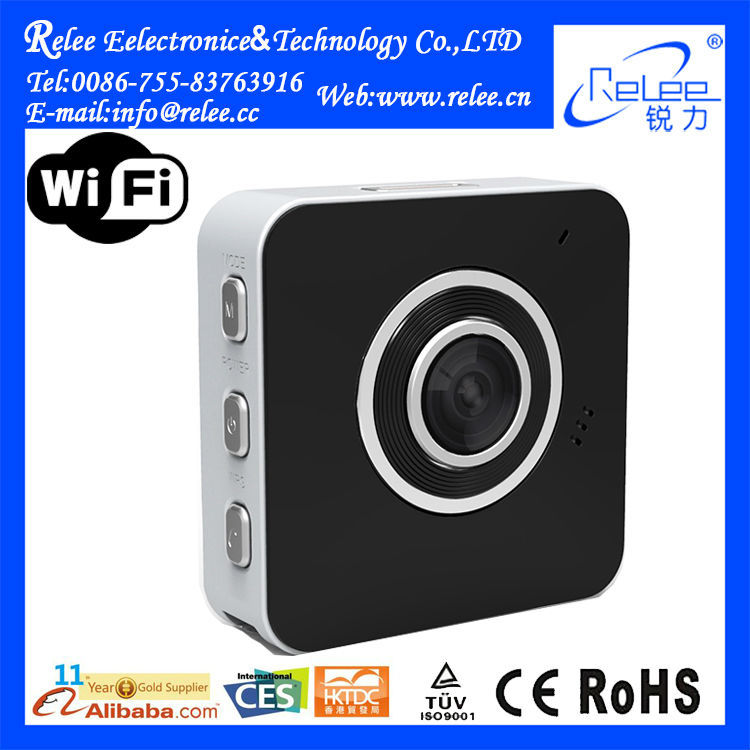 2015 New Cloud wifi P2P portable wearable hidden ip video camera