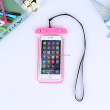 free sample universal mobile dry bag pvc carrying waterproof cell phone case for iphone 7 6s