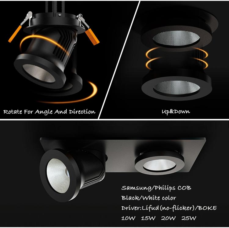 New products on china market data entry work home cob 15w 20w recessed led downlight