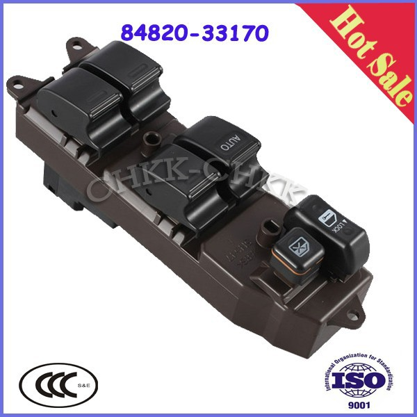 Power Master Window Switch For Toyota Soluna Vios NCP61 Part# 84820-33170