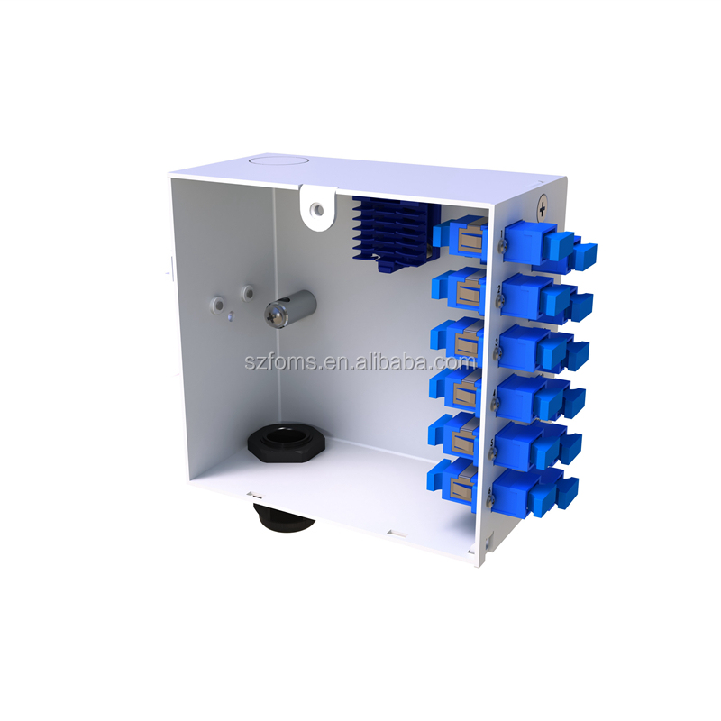 IP20 Din Rail box loaded 2 x SCA , Fiber Termination Box Simplex Single Mode