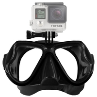 Water Sports Diving Equipment Diving Mask Swimming Glasses for Camera HERO4 /3+ /3 /2 /1(Black)
