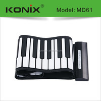High Quality 49/61/88 Keys Roll UP Piano, Portable MIDI Foldable USB Piano Keyboard