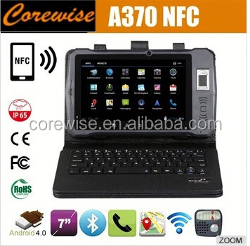 Cheap A370 waterproof tablet android rugged IP65 CE FCC Rohs with rfid barcode fingerprint