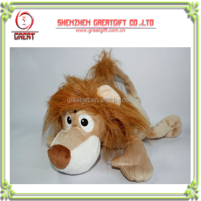 Rolling and laughing cute mini lion, light control electronic stuffed animal plush toy