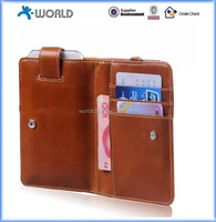 High Quality PU Leather Universal Multi Function Wallet Case for Mobile Phone