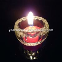 pure crystal glass cup candle holder for weddingdecorations (R-757