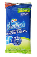 24pcs Window & Glass Pre-moistened Cleaning Wipes OEM welcomed