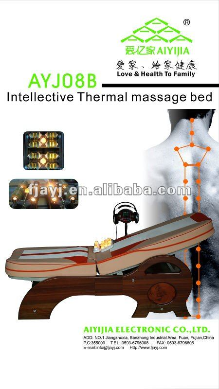 natural jade stone thermal massage bed wiith physical therapy AYJ-008B