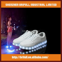 PU leather flashing led shoe lights new products for 2015