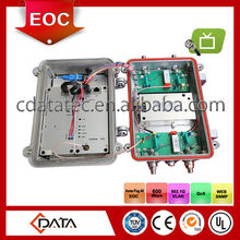 Ethernet/TV over coax cable solution with integrated outdoor EOC master