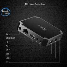 Cheapest factory price Original X96 mini 2GB RAM 16GB ROM S905W android 7.1 Smart Set top box watching free movie TV box