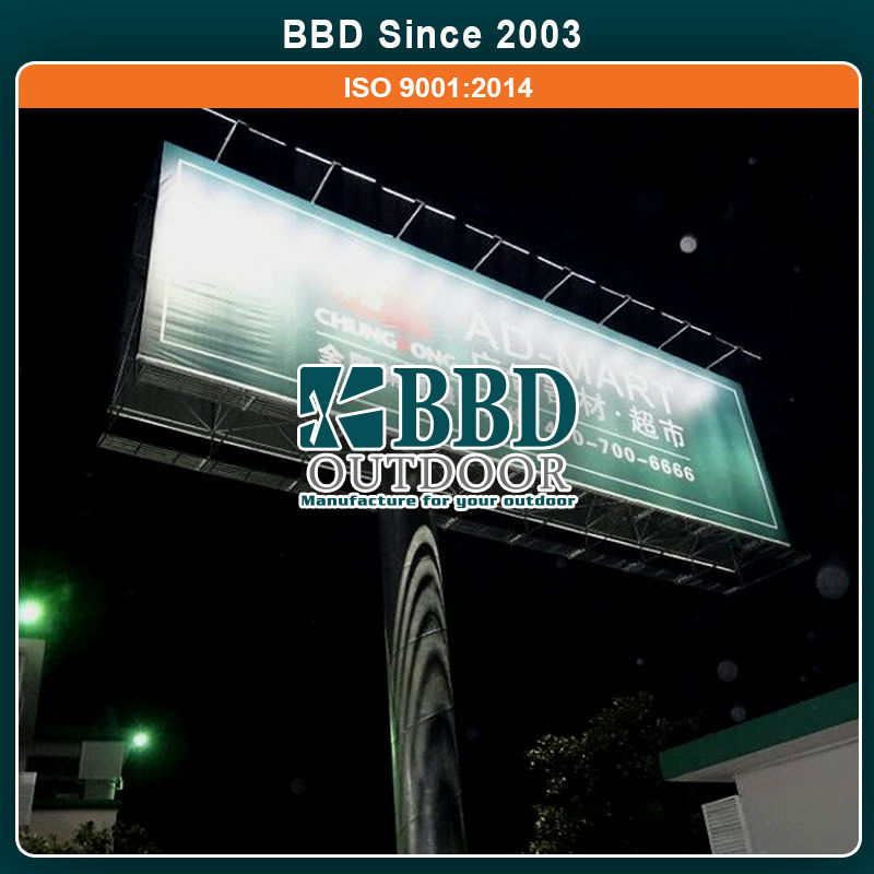 Competitive price steel structure stable hoarding design billboard