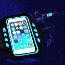 Mobile Phone Accessories Arm Wrist Pouch Led Sport Armband Case Cycling Adjustable Armband