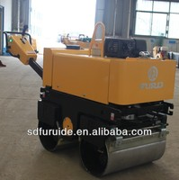 manual vibro hydraulic double wheel mini road roller,small road roller