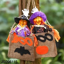 Witch in gift bag hanging, hanging outdoor, for Halloween