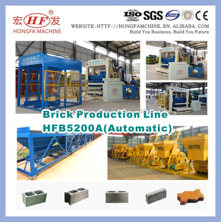 Auto Concrete Hollow Block and Kerb Stone Brick Making Machine