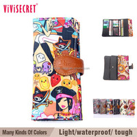 vivisecret Trendy peony custom embroidered wallet