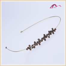 Women headband plain crystal flower headband to decorate