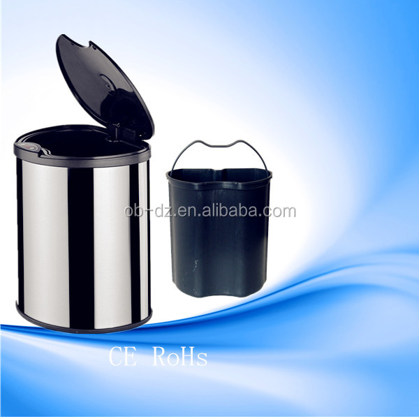 14L Bathroom Mini Trash Cans Touchless Garbage bins