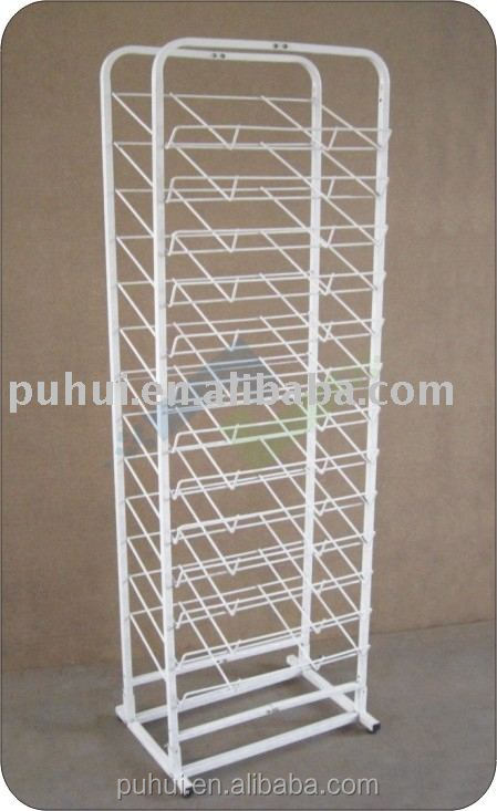multi functional free standing mats display rack manufacturer from china