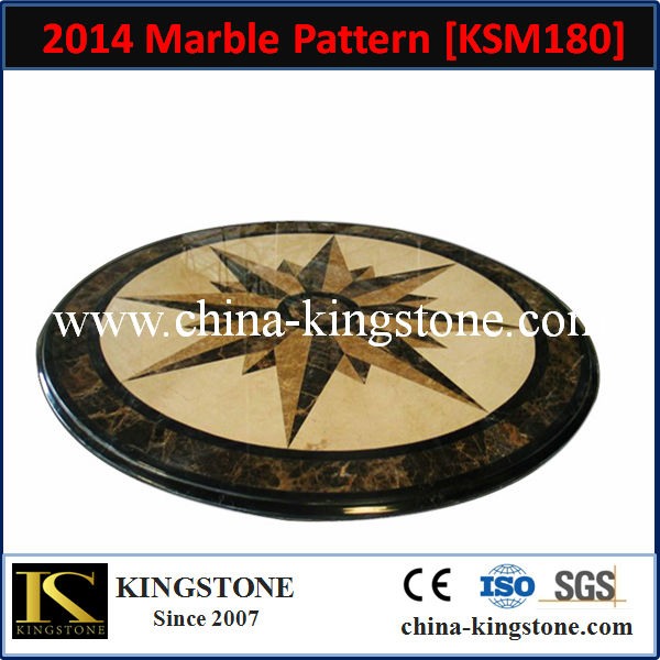 KSM180 hotel use marble flooring design with classic pattern