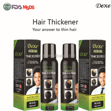 black hair thickening spray with private label of hair thickener spray