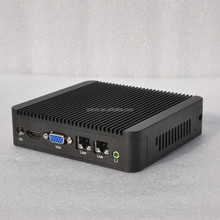 Qotom Mini PC with 8GB RAM 128GB mSATA SSD Core i3 processor HD Graphics 4000 2 LAN Mini PC Linux Ubuntu