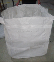 Flat bottom pp jumbo bags/ Bulk pp big bags scrap/1 ton 2 ton jumbo bag for sand firewood