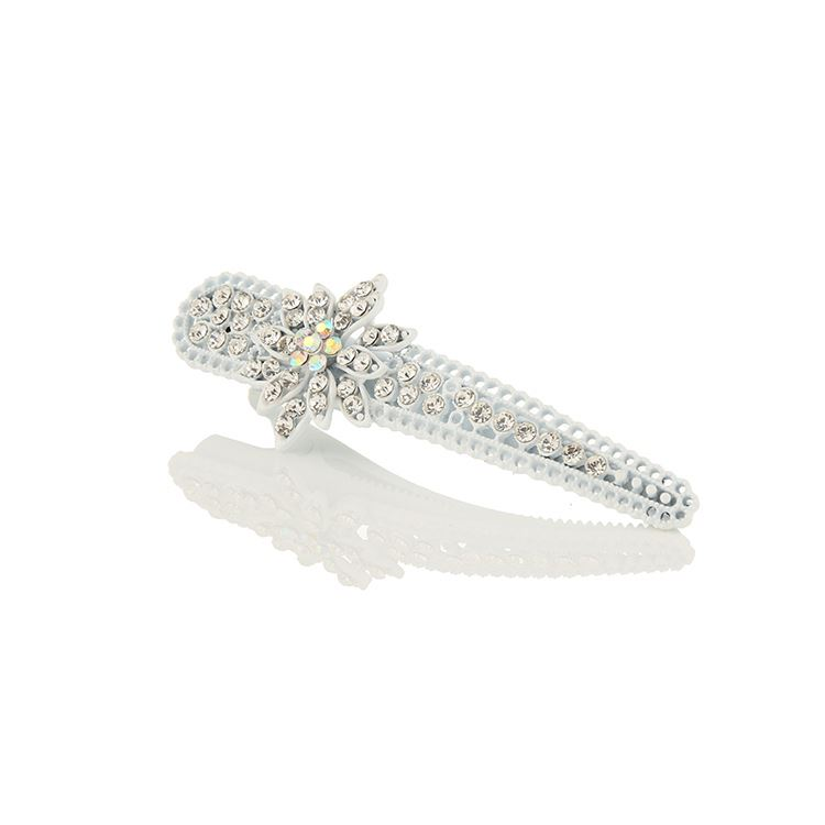 WAYZI brand best selling zinc alloy hair claw clip women white rhinestone hairgrips pin hair clip