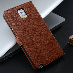 Factory case for note 3, accessories for note3 cases, slim leather flip case for samsung galaxy note 3
