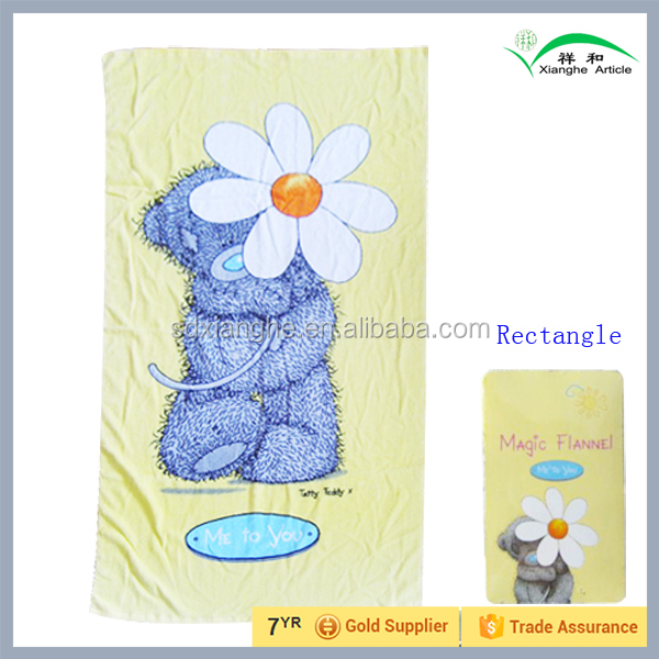 Hot Compressed Magic Flannel Beach Towel