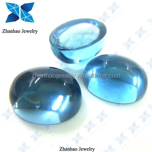 Natural Gems Oval shape Cabochon London Blue Topaz Beads