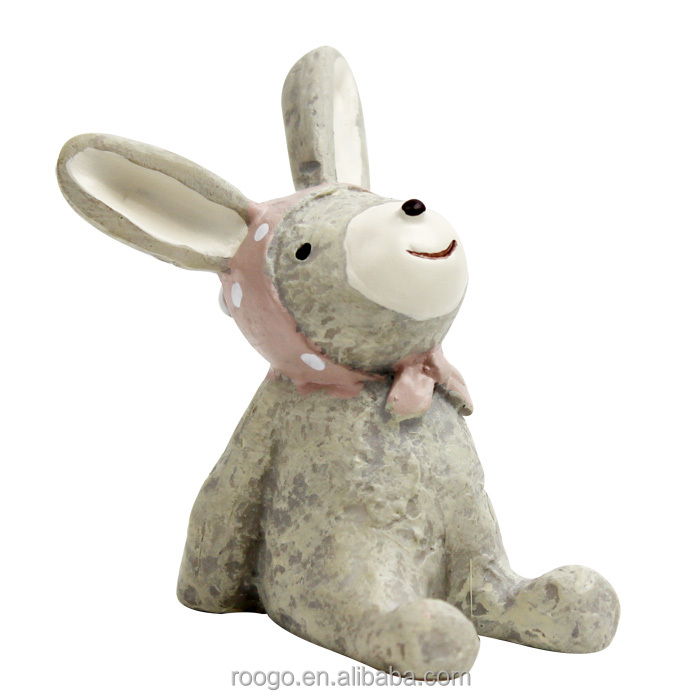 ROOGO custom pretty rabbit resin animal figurine indian home decor items