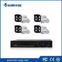 Korang 4 channel 1080P AHD Security Camera System 4chH.264 2.0 Megapixel CCTV Onvif Outdoor Surveillance DVR Kit