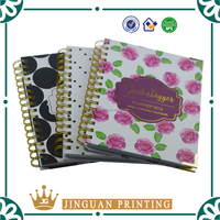 custom design daily &weekly & monthly planner notebook printing with gold stamping