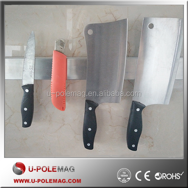 High Quality <strong>16</strong> Inch Stainless Steel Kitchen Tool Holder, Elegant Magnetic Knife Holder/Bar/Strip
