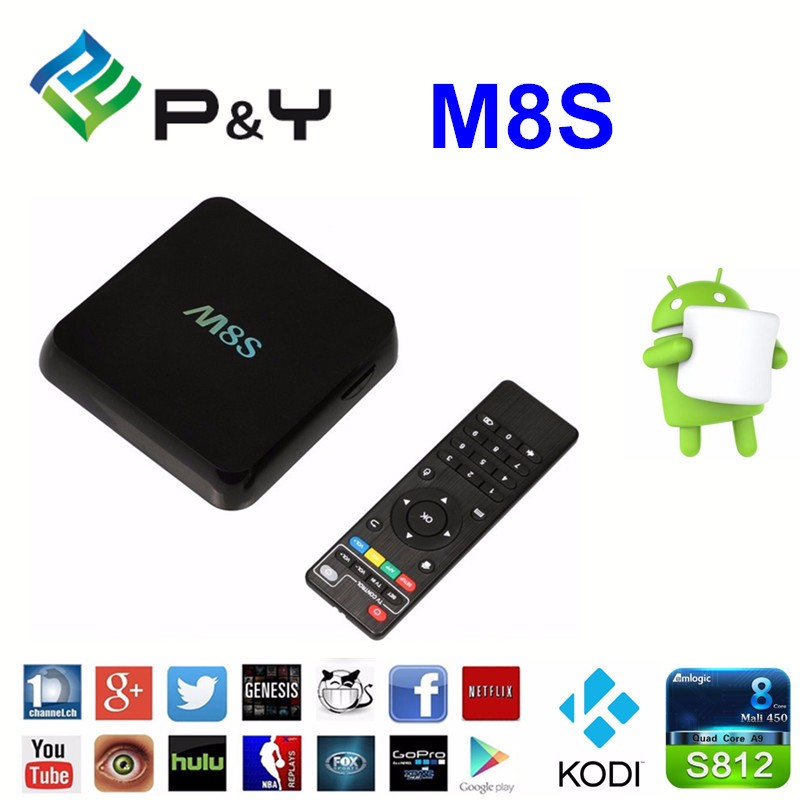 Original M8S Android TV Box with Amlogic S812 Quad core 2.0GHz Dual Band Wifi XBMC CODI Fully Load 4K HD Video H.265