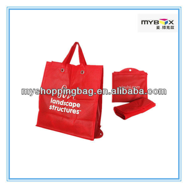 nonwoven fabric foldable custom shopping bags with punching wenzhou manufacturer