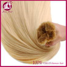Wholesale bulk hair extensions blonde straight remy russian human hair bulk