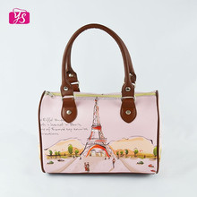 Cheap good printing leather handbag for sweet girl